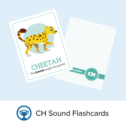 Flashcards for the ch sound