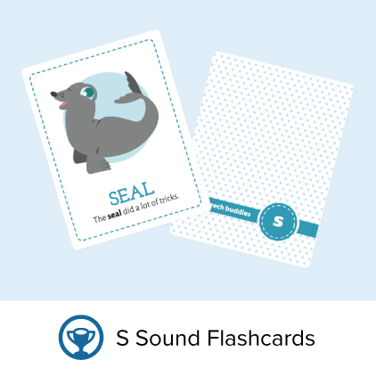 Flashcards for the s sound