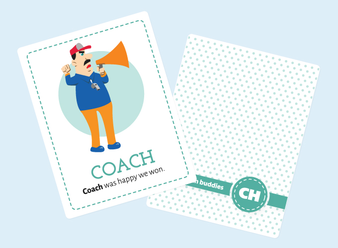 Ch-sound Flashcards: Coach