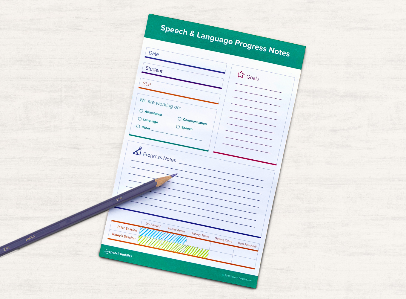 Speech Therapy Progress Pad