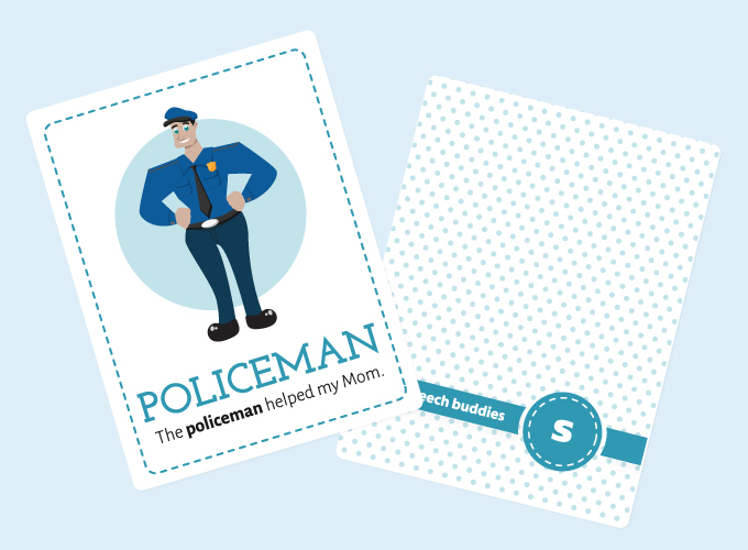 S-Sound Flashcards: Policeman
