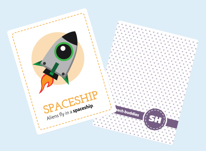 Sh-Sound Flashcards: Spaceship