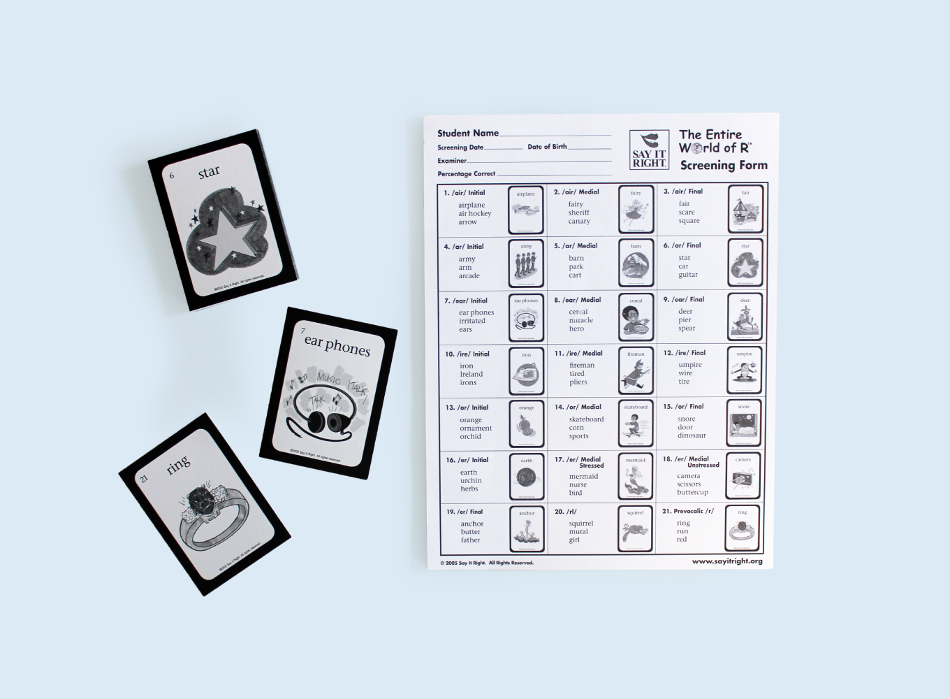 Single Word Screening Kit