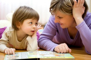 Speech Therapist Working with Child