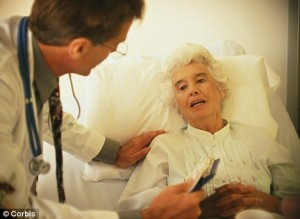 Elderly Woman in Hospital