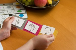 Speech Therapist with Picture Cards