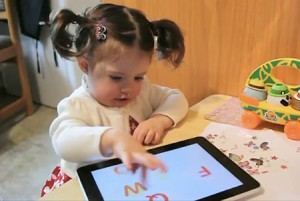 Child Using iPad App
