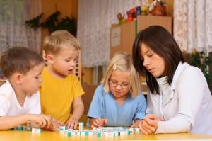 Speech Therapist Working with Children