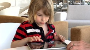 Child Working with iPad