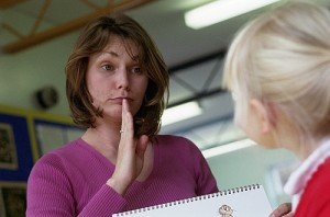 Speech Therapist Using Sign Language