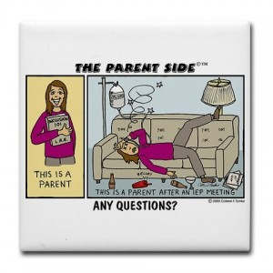Cartoon of Parent After IEP Meeting
