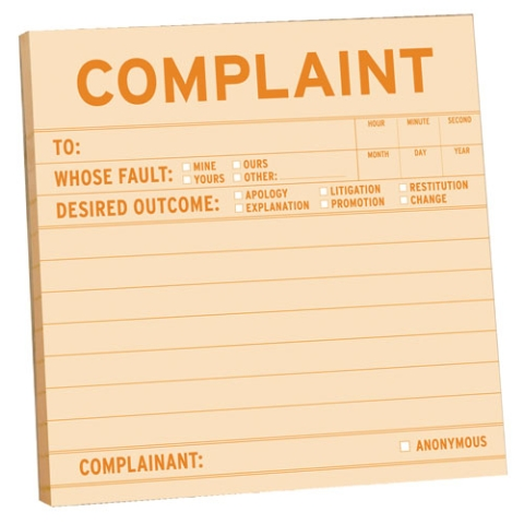 how to set out a complaint letter