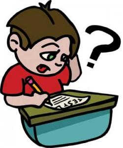 Cartoon of Struggling Student