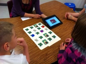 Speech Therapist Working with Articulation App