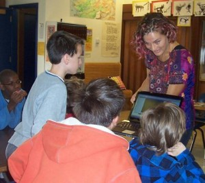 Speech Therapist Working with Group of Children