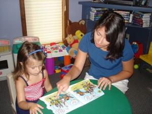 Speech Therapist Working with Child