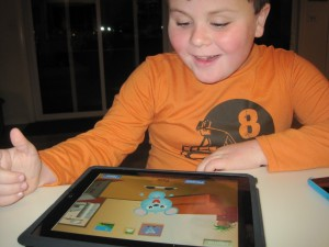 Child Using a Speech Therapy App