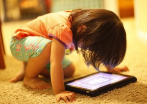 Child Using iPad App