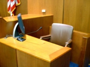 Empty Witness Chair