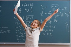 Successful Child in Classroom