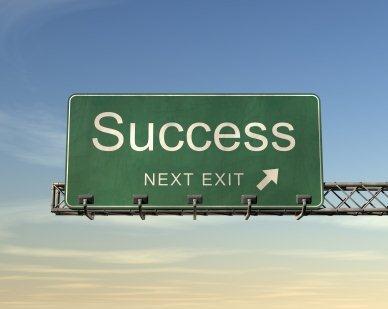 Success Next Exit Sign