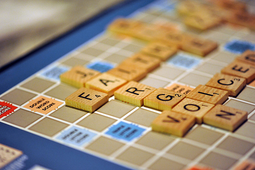 Jargon on Scrabble Board