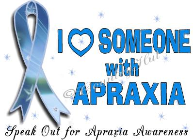 I Love Someone with Apraxia Sticker