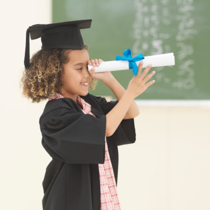 Child with Diploma