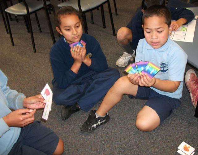 Children Playing Go Fish