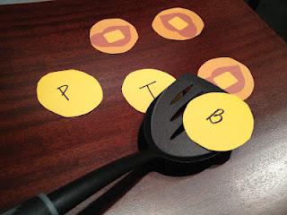 Pancake Flip Game for Letter Identification
