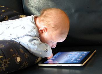 Baby Using iPad App