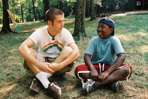 Kid with Camp Counselor