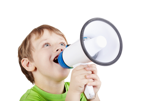 Child using Megaphone