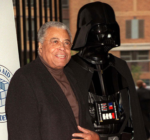 James Earl Jones with Darth Vader