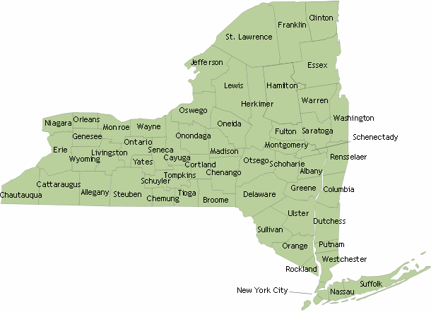 NYS Map by County