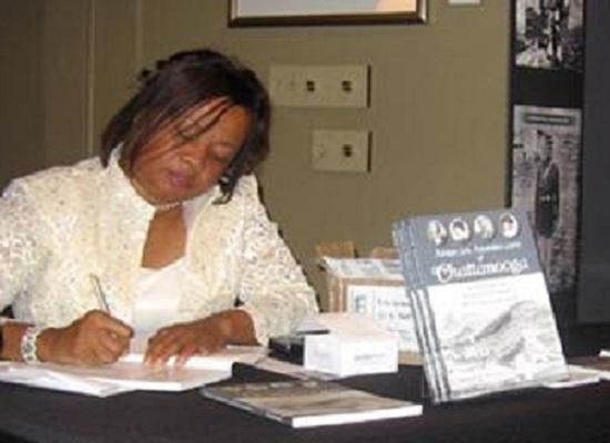 Rita Lorraine Hubbard at a Book Signing