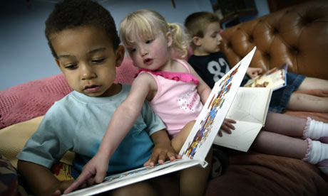 Children Reading at a Nursery