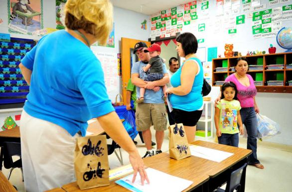 Parents at School Open House