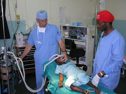 Child Receiving Anesthesia