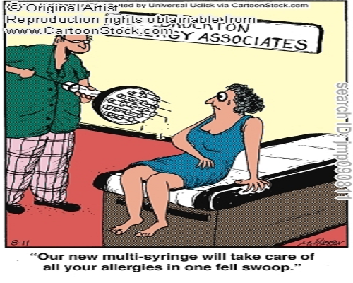 Treating Allergies Cartoon