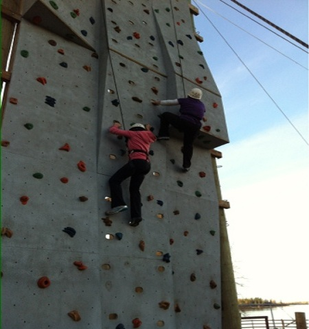 Laura and Daughter JC Rock Climbing