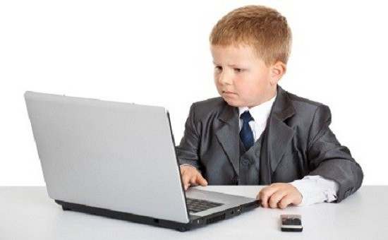 Child Dressed as Businessman