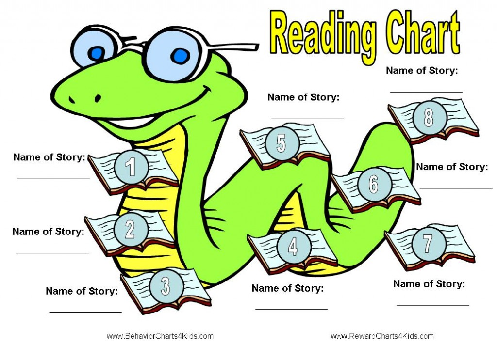 Flashcards for Kids Reading Chart