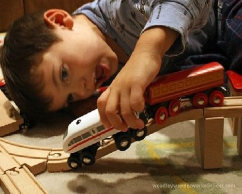 At-Home Speech Therapy with Trains