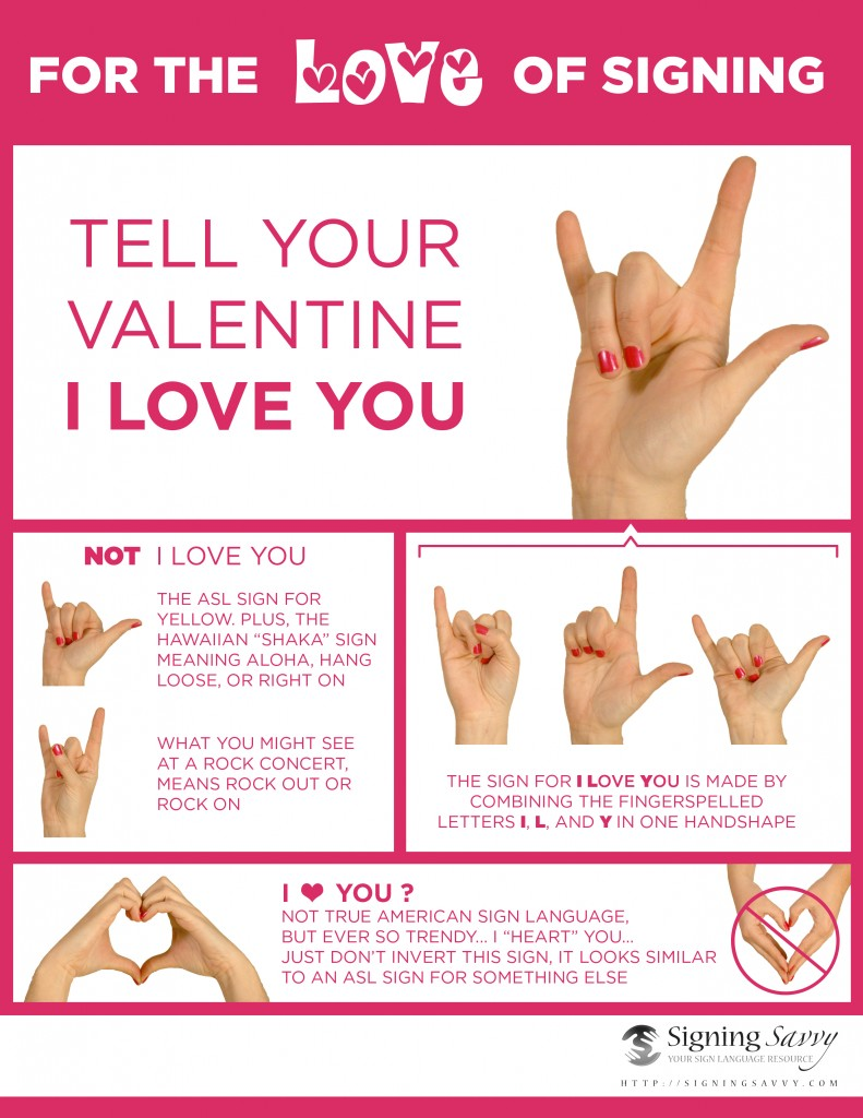 How to sign I love you