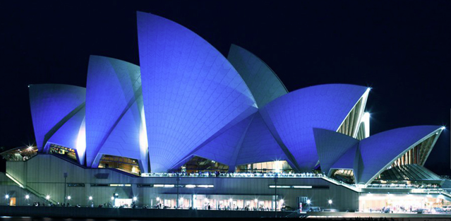 Opera House Lights up Blue for Autism