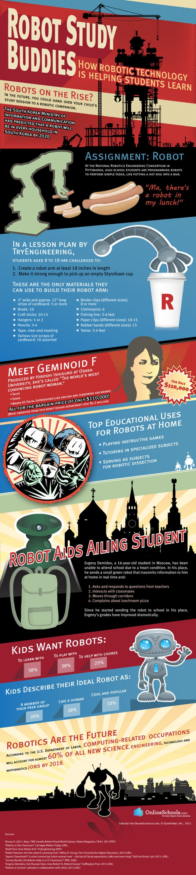 robots as study buddy for children