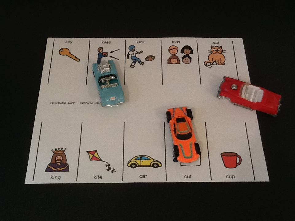 speech therapy car parking activity