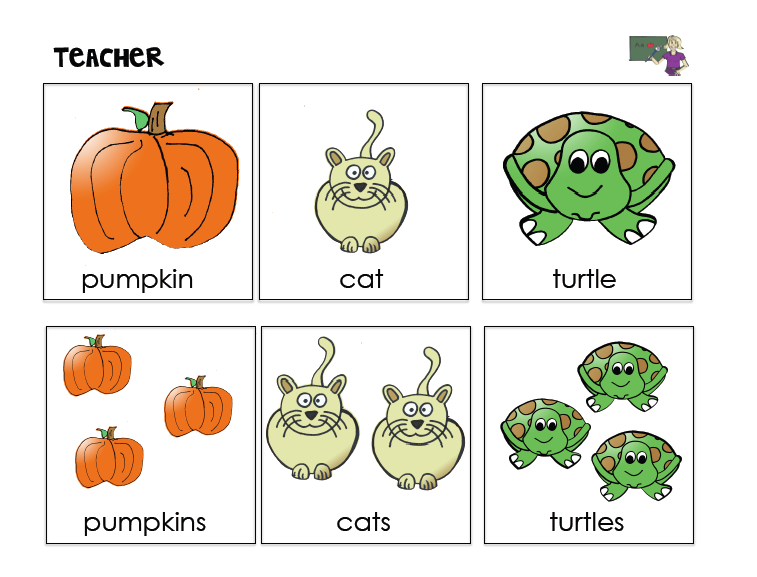 teaching plurals in speech therapy tasks for understanding and