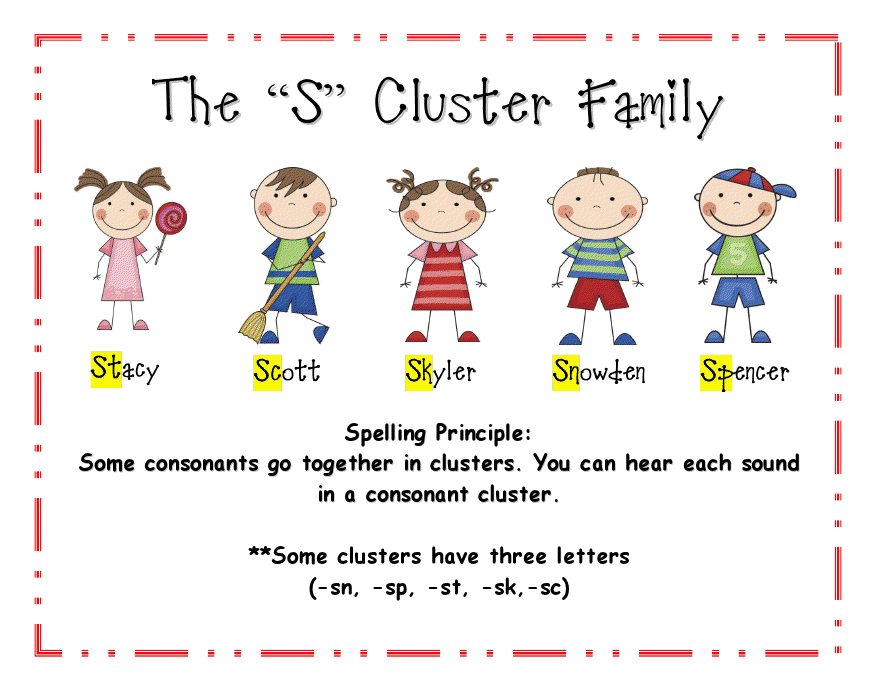 s cluster family graphic